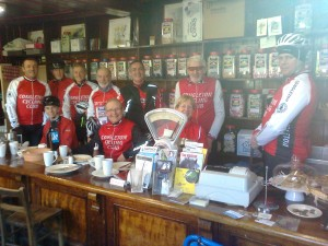 Riders in the Priest House Cafe Audlem