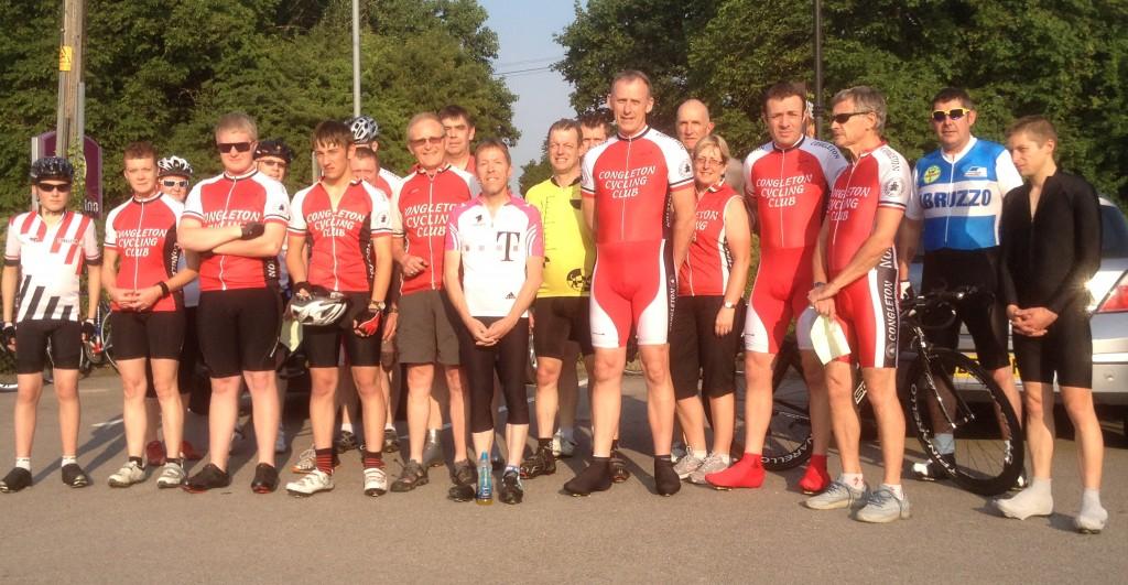 Riders before the start