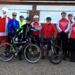 Santa (AP) with club run riders.