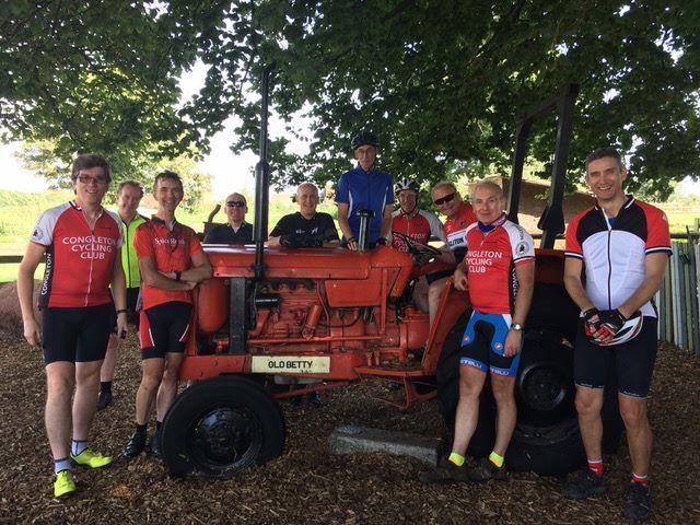 Congleton Cycling Club at Fordhall Farm