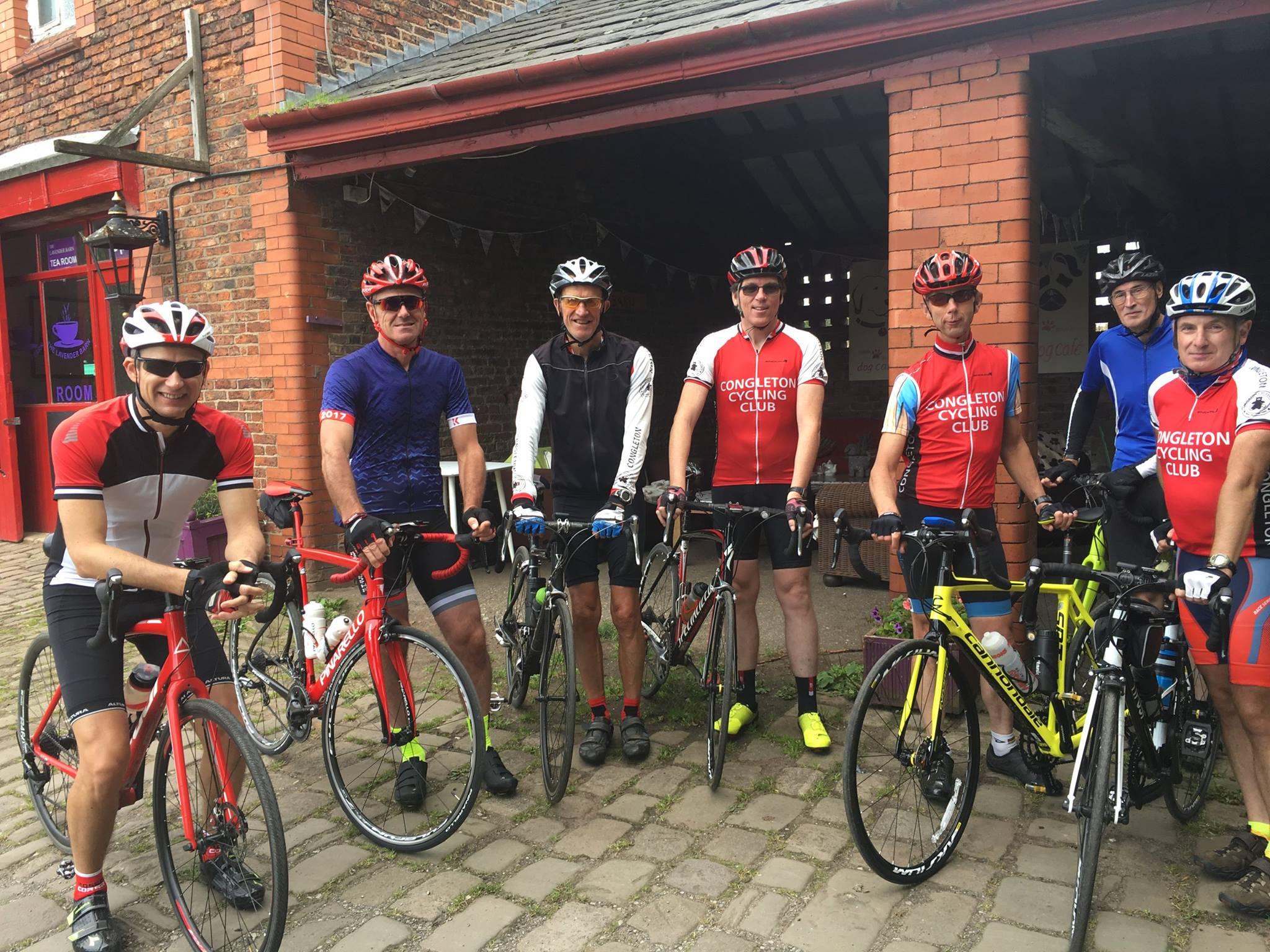 Congleton Cycling Club at the Lavender Barn