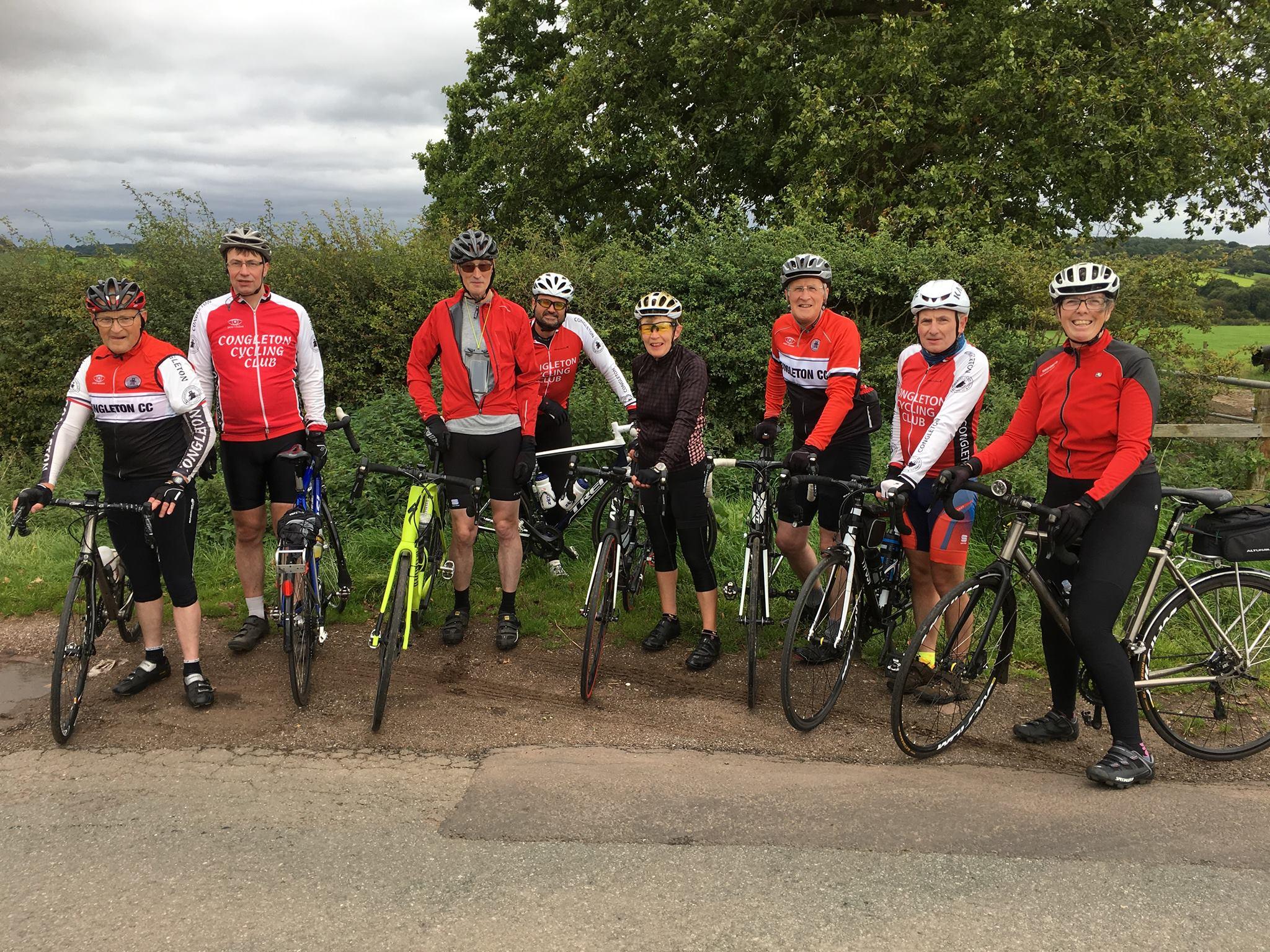 Congleton Cycling Club en-route near Eccleshall