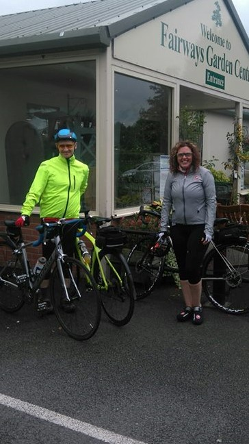Congleton Cycling Club at Fairways Garden Centre